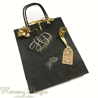 Picture of Black Christmas Gift Bag