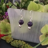 Picture of Elegant - Dark Purple - Amethyst - Silver plated - Earrings (E5)