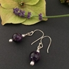 Picture of Dainty - Dark Purple - Amethyst - Silver plated - Earrings (E6)
