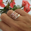 Picture of Pretty  -  Preciosa Crystal - Wrap Round Style - Double Crystal -  Hand Forged  - Wire Wrapping  - Sliver Plated - Ring - (R22)