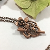 Picture of Unique - Stylishly Distinguished  - Ornate - Antic Bronze - Rose Gold  - Wire Work - Weaving -  Necklace - (N23)