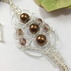 Picture of Intricate -  Haematite -   Striking - Czech Fire Polished Glass  - Sliver Plated - Free Formed Wire Work - Necklace  (N11)