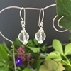 Picture of Limited Stock -   Beautifully Reflective -  Clear Quartz Faceted - Silver Plated - Earrings (E16)