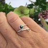 Picture of Simple - Contempary - Stacking Style - Hand Forged  - Wire Wrapping  - Sliver Plated - Ring -  (R27)