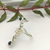 Picture of Ornate -  Curvy - Reflective  - Celebrity Crystals - Free Form - Wire Worked - Sliver Plated -  Ring - (R18)