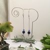 Picture of SOLD (E24 )  Czech Fired Glass Crystal -  Sliver Plated - Illusion - Earrings