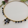 Picture of SOLD - Captivating - Wire Weaving - Czech Fired Glass Crystal - Gold Plated - Choker Style Necklace  - (N58)