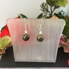 Picture of Pyrite - Metallic - Vibrant -  Preciosa Crystal Bicones - Shimmer - Silver Plate - Earrings (E34)