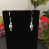 Picture of Cultured Pearls - Delicate - Elegant Iridescently Glimmering - Czech Fired Faceted  Glass   - Silver Plated - ( E37)