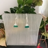 Picture of Limit Stock -  Contemporary - Green Onyx - Faceted  Wheel - Celebrity Crystal - Sliver Plated - Earrings (E39)