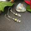 Picture of Limited Stock - Cultured Potato Pearls - Quartz Crystal -  Elegant Vintage  - shinning -  Preciosa Crystal - Silver Plated (E43)