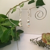 Picture of Charming - Czech Fired Polished Rose Bud Crystal - Aurora Borealis luster - Silver Plated - Earrings  (E46)