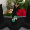 Picture of Fresh - Distinctive - Bejeweled  - Green Onyx - Silver Plated - Wire Work - Ring - (R33)