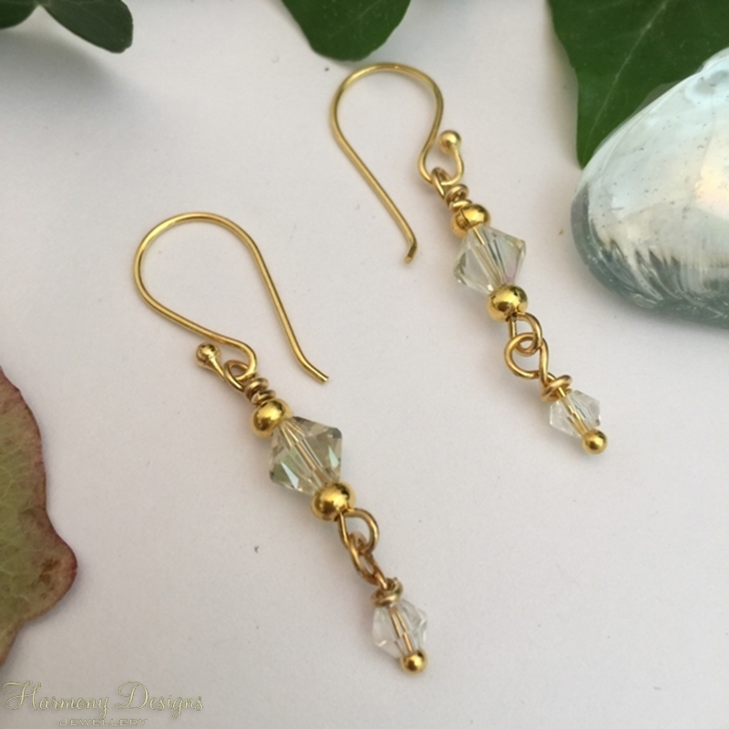 Picture of Eye-Catching -  Expressive looking - Timeless - Swarovski -  Gold Plated - Timeless  -  Earrings  (E48)