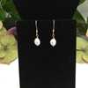 Picture of 925 Stirling Silver Gold Plated - Fresh Water Cultured Grey Peals - limited Stock - Sophisticated- Lustrous - Earrings (E50)