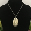 Picture of One  Only - Charming - Whimsical - Shell Hearts And Chain - Shell Drilled Ovals  -  Labradorite - Cultured Freshwater Pearls - Silver Plated - Necklace - (N19)