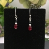 Picture of Dainty -  Elegant - Radiant - Czech Fired Glass - Rich Tones - Silver Plated - Earrings (E64)