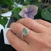 Picture of One Only  -  Simple - Chic - Cocktail  Style - Fluorite Faceted Prisms - Silver Plated - Ring -  (R36)