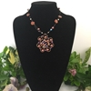 Picture of Unique - Stylishly  Vintage - Ornate - Copper - Rose Gold  - Wire Work - Weaving -  Necklace (N17)