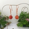 Picture of Limited Stock -  Simply Radiant  -  Red/Orange Agate Faceted Beads - Rose Gold Plated- Earrings (E71)