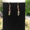 Picture of Vivid  And Quaint  - Light Catching -  Czech Fired Faceted polished Glass And Crystal - Aurora Borealis  -  Rose Gold Plated- Earrings (E81)
