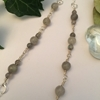 Picture of SOLD One Only - (N71)Unique - 925 Sterling -  Labradorite  Faceted Beads - Stunningly Ornate - Sophistication - Hand Forged