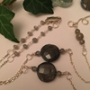 Picture of One only - Unique - 925 Sterling -  Labradorite  Faceted Beads - Stunningly Ornate - Sophistication - Hand Forged  (N77)