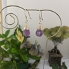 Picture of 925 Sterling Silver- Limited Stock - Delicate - Graceful -  Amethyst - Silver plated - Earrings (E89)