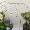 Picture of Very Delicate - Adorable -Crystal Rondels - Rhinestone -Cultured Freshwater Pearls - Earrings (E94)