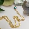 Picture of Elegant - Timeless - Wire Work - Czech Fired Glass  And Crystal - Gold Plated -  Necklace  - (N73)