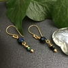 Picture of Sophisticated - Timeless - Elegant - Gold Plated - Czech Faceted Fired glass - Aurora Borealis Finish -  Earrings (E30)