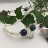 Picture of Distinguished  -  Attractive -  Lapis Lazuli -Wire Worked - Sliver Plated Bracelet (B28)