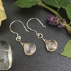 Picture of 925 Sterling - Limited Stock - Mystic Rainbow Coloured Quartz - Stunning - Sophistication - Hand Forged - Earrings (E103)
