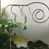 Picture of Delicate - Celebrity Fired Crystal rondels - Aurora Borealis - Radiant - Glistening - Copper - Hand Forged - Earrings (E105)