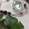 Picture of Delicate Intricate -  Radiant -  Czech Fired Glass Crystal - Wire Work - Sliver Plated -  Bracelet (B24)