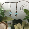 Picture of Attractively Delicate -  Apatite And Smokey Quartz - Hand Forged Components - Antique Bronze - Earrings (E108)