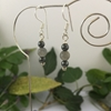 Picture of One Only - Simple And Charming -  Labradorite  -  Haematite  - Silver Plated - Earrings (E110)