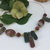 Picture of SOLD - One Only - Stunning Natural Beauty -  Statement Piece -  Jasper -  Timeless  - Silver Plated -  Necklace - (N65)