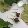 Picture of One Only - Delicately Ornate  -  Jasper -  Timeless  - Gold Plated -  Earrings (E112)