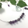 Picture of Limited Stock - Delicate -  Bejeweled  -  Pretty - Amethyst -  Sliver Plated - Necklace - (N70)