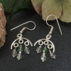Picture of Elegant -  Modern - Chandelier - Czech Fired Faceted Glass Bead - Silver Plated - Earrings  (E117)